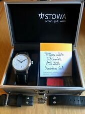 Stowa Flieger White 40mm Men's Automatic Watch - Top Movement with Date & Papers