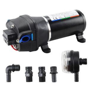 12V 17L/min Wasserpumpe Druckpumpe Pumpe Membranpumpe für Yacht Wohnwagen Garden