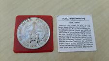 Indien 10 Rupien 1976 - FAO F.A.O. Münze Essen und Arbeit für Alle 60000 Stk