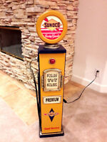 "42"" Sunoco Gas Pump Cabinet with light. Mancave/Gameroom."