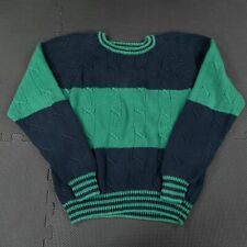 Vintage Driving Force Crew Neck Sweater Womens Medium Knit Colorblock Grunge