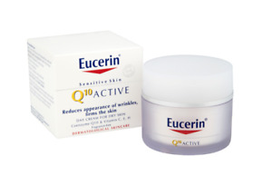 Eucerin Sensitive Skin Q10 Active Day Cream 50ml For Dry Skin Exp 06/21 NIB
