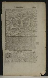 GREVELINES FRANCE 1578 MÜNSTER UNUSUAL ANTIQUE CITY VIEW GERMAN AN EDITION