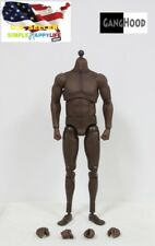 GangHood 1/6 Muscular Body African Skin tone for black panther mike tyson ❶USA❶