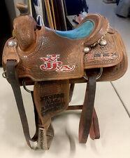 Western Calf Roping Saddle 14.5� Champion All Around Cowboy Bex Sponsorship