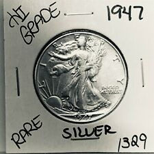 1947 LIBERTY WALKING SILVER HALF DOLLAR HI GRADE U.S. MINT RARE COIN 1329