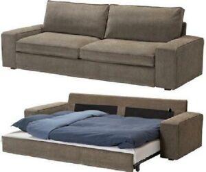 IKEA KIVIK Cover for KIVIK Sofa-Bed Tranas Light Brown Sofa Bed Slipcover - NEW