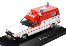 Atlas 1/43 Moulage sous Pression Volvo 264 Néerlandaise Ambulance Rouge/Blanc