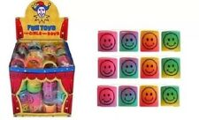 24 Pack colour mini smiley springs children kid Party Bag filler toy prize game