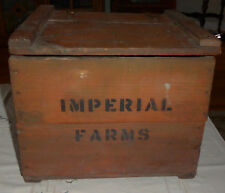 Vintage Wood Porch Milk Box - Imperial Farms