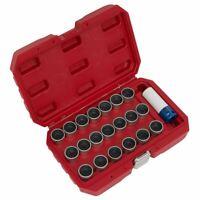 Sealey SX217 21pc Locking Wheel Nut Key Set For BMW