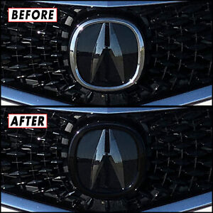 Chrome Delete Blackout Overlay for 2018-2020 Acura TLX Front Emblem Ring