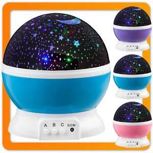 LED Sternenlicht Nachtlicht Einschlafhilfe Baby Lampe Sternenhimmel für Kinder