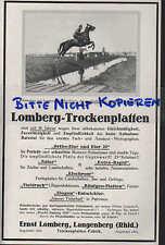 LANGENBERG, Werbung 1929, Ernst Lomberg-Trocken-Platten FilmFoto Entwicklung