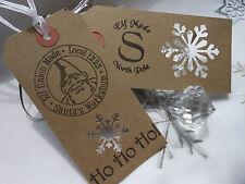 10 Elf Made Snowflake Christmas Gift Tags Handmade Vintage Style
