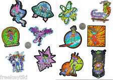 12 Retro Space Gals Girls UFO B-Movie Alien Party Favors Decals Stickers Set Lot