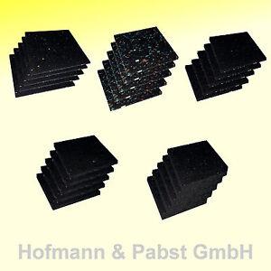 Pads, Terrassenpad, Terrassenbau, Gummipads, Bautenschutzpads 100 x 100 mm **