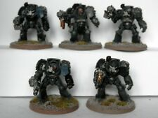 WARHAMMER 40K SPACE MARINE ARMY- TERMINATOR SQUAD NO CHAPTER MARKS PAINTED