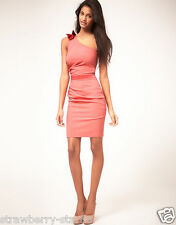 Hybrid Pencil Dress With One Bow Shoulder RRP £85 UK 10 EU 38 US 6