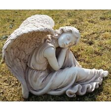 Angel Cherub Sleeping Garden Statue Ornament 55 cm