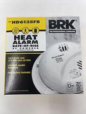 First Alert Hard-Wired w/Battery Back-up Ionization Heat Alarm HD6135FB AC