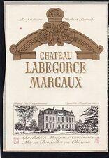 MARGAUX VIEILLE ETIQUETTE CHATEAU LABEGORCE 1970/1980 75 CL §15/11/16§