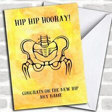 Funny Hip Hip Hooray Get Well Soon Personalised Card