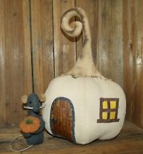 PATTERN~ON CD/FALL/HALLOWEEN/PUMPKIN HOUSE/MOUSE/MY PRIMITIVE SALTBOX/PT105