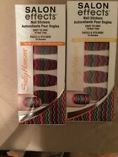 (2 Sets) Sally Hansen Salon Effects Nail Stickers Fab-Ric #140