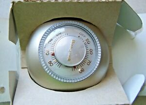 Vintage Old School Honeywell Round Thermostat A6176 Gauge USA Made
