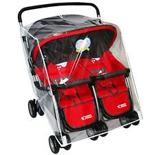 Stroller Rain Cover Transparent Windproof Shield For Baby Twins Prams Pushchair