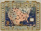 Midcentury+Pictorial+Map+The+Game+Fish+Cyclopedia+Fishing+Fishermen+Gifts+11%22x14
