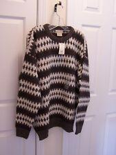 St John's Bay Men's XL Sweater Pullover Multi Color Crewneck Long Sleeve NWT