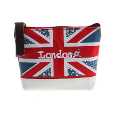 Union Jack Embroidered Admission Package Canvas Coin Purse Hand Bag Pop
