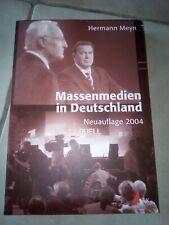Massenmedien in Deutschland von Hermann Meyn (2004, Taschenbuch)