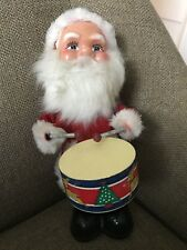 VINTAGE SANTA PLAYING DRUM BATTERY OPERATED