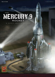 Pegasus Hobbies 1/350 The Mercury 9 Rocket (1 Rocket)