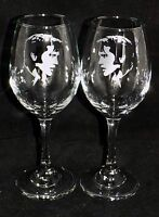 "New Etched ""ELVIS PRESLEY"" Wine Glass(es) - Free Gift Box  - Large 310mls Glass"