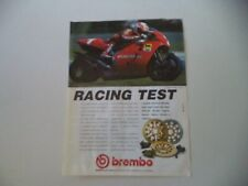 advertising Pubblicità 1992 BREMBO e MOTO CAGIVA e EDDIE LAWSON