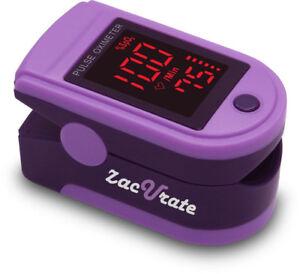 Zacurate 500DL Purple Finger Pulse Oximeter SpO2 Blood Oxygen Saturation O2