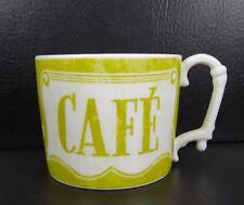 Rosanna Cafe Au Lait Lime Green Mug Antique French Coffee Roaster