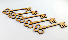 5 xMDF Wooden Santa's Magic Key Shape, Magic Santa Keys / Christmas Eve