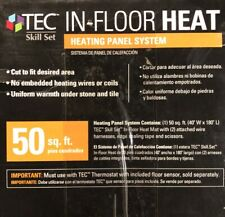(50 sq ft) TEC In-floor Heating Panel System Heat Mat For Tile TEC Skill Set