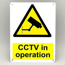 CCTV IN OPERATION WARNING METAL SIGN Security Camera Yellow A5 & A4 Rigid
