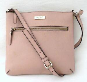 Kate Spade Blush Pink Saffiano Leather Crossbody Bag Purse *Repair*