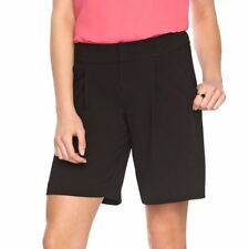 Women's ELLE Pleated Draped & Textured shorts Black Size 8