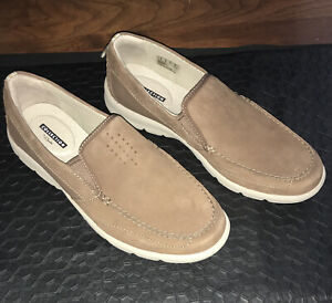 New Collection By Clarks  Men's Size 9 Brown Casual Loafer Tan Sole, Slip-On