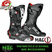 Sidi MAG-1 CE Approved Microfibre Motorcycle Motorbike Sports Race Boots - Black