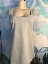 JESSICA LONDON 14/16 NEW GRAY SCOOP NECK COTTON BLEND SLEEVELESS TUNIC TANK TOP