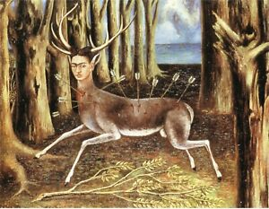 Frida Kahlo Wounded Deer Movie Poster Canvas Picture Art